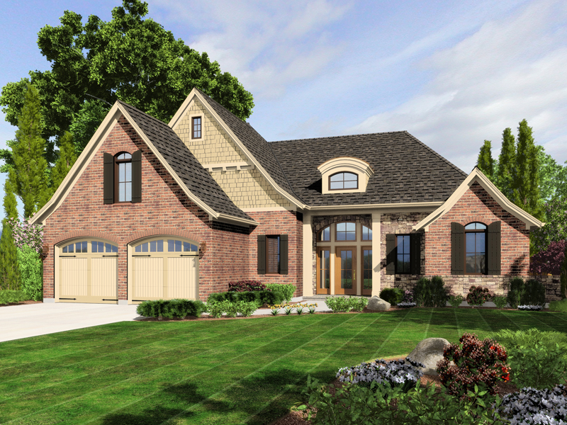 Country House Plan Front of Home - 065D-0318 | House Plans and More