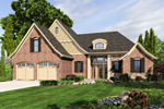 English Tudor House Plan Front of Home - 065D-0318 | House Plans and More