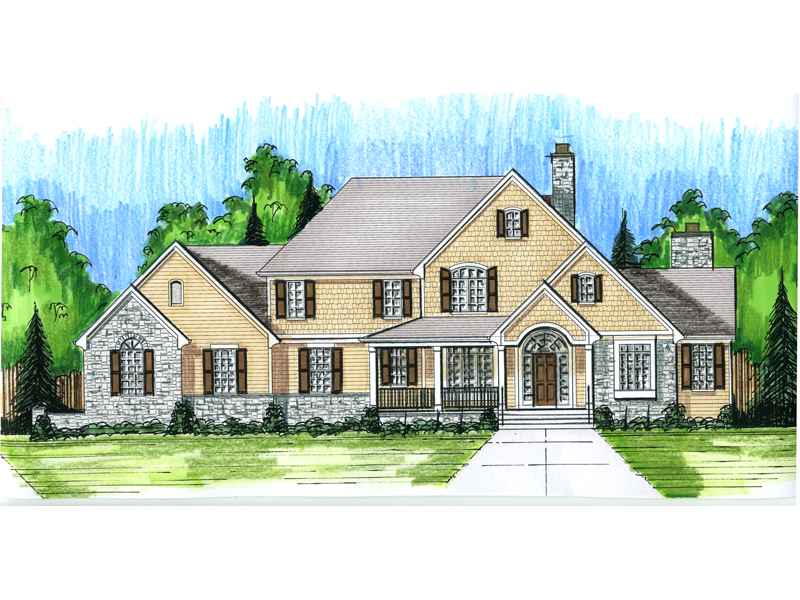 Luxurious Craftsman Home With Two-Story Foyer