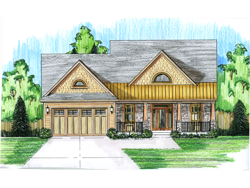 Tudor House Plan Front Photo 01 - 065D-0332 | House Plans and More