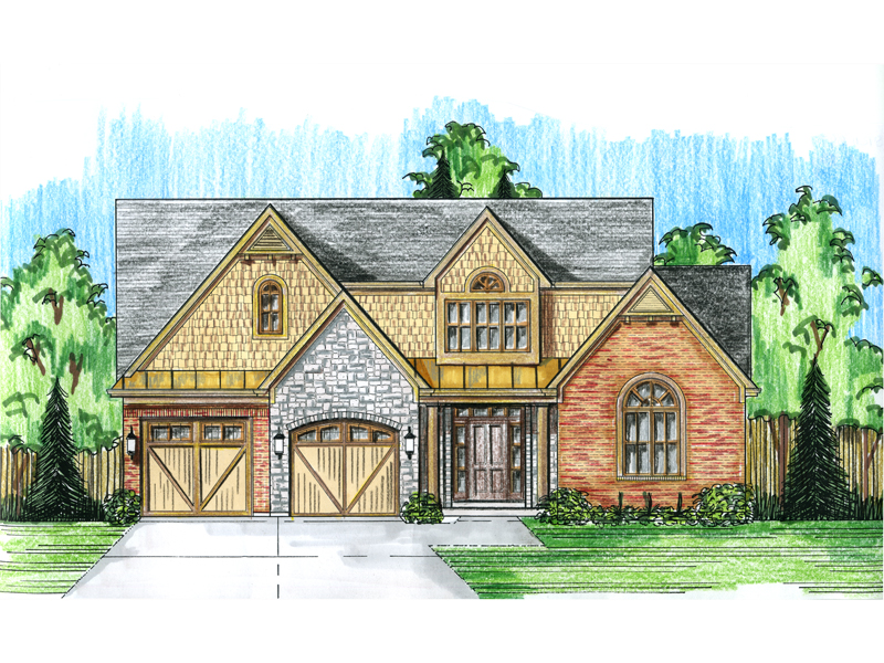 Rustic Home Plan Front Photo 01 - 065D-0335 | House Plans and More