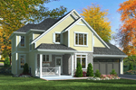 Craftsman House Plan Front of Home - 065D-0339 | House Plans and More