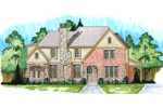 Tudor House Plan Front of Home - 065D-0340 | House Plans and More