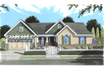 Cabin and Cottage Plan Front of Home - 065D-0341 | House Plans and More