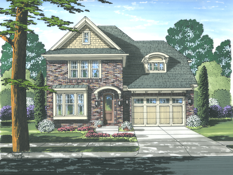 Tudor House Plan Front of Home - 065D-0343 | House Plans and More