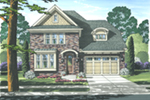 English Tudor House Plan Front of Home - 065D-0343 | House Plans and More