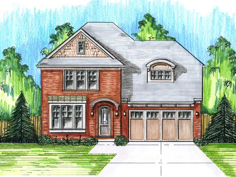 Tudor House Plan Front Photo 01 - 065D-0343 | House Plans and More