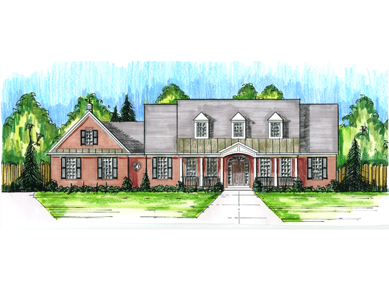 Farmhouse Plan Front of Home - 065D-0344 | House Plans and More