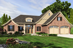 Ranch House Plan Front of Home - 065D-0345 | House Plans and More
