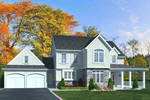 Traditional House Plan Front of Home - 065D-0346 | House Plans and More