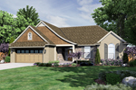 Ranch House Plan Front of Home - 065D-0347 | House Plans and More