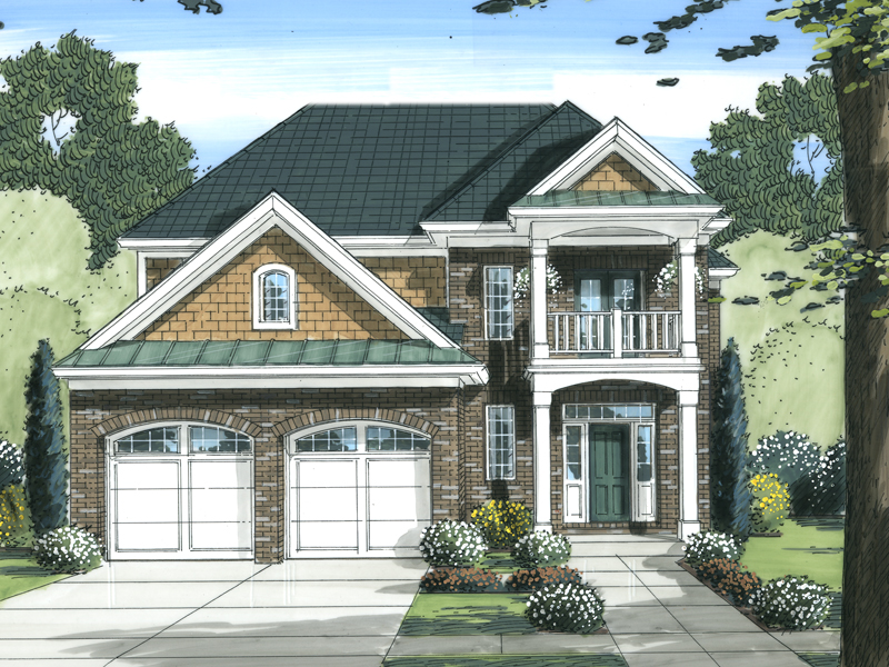 Traditional House Plan Front of Home - 065D-0348 | House Plans and More