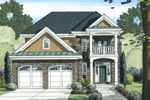 Colonial House Plan Front of Home - 065D-0348 | House Plans and More