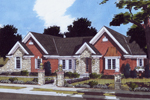 Ranch House Plan Front of Home - 065D-0349 | House Plans and More