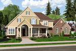 Country House Plan Front of Home - 065D-0350 | House Plans and More