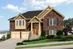 English Tudor House Plan Front of Home - 065D-0351 | House Plans and More