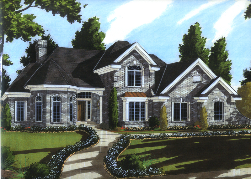 Country French Home Plan Front of Home - 065D-0352 | House Plans and More