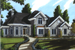 Cape Cod and New England Plan Front of Home - 065D-0352 | House Plans and More