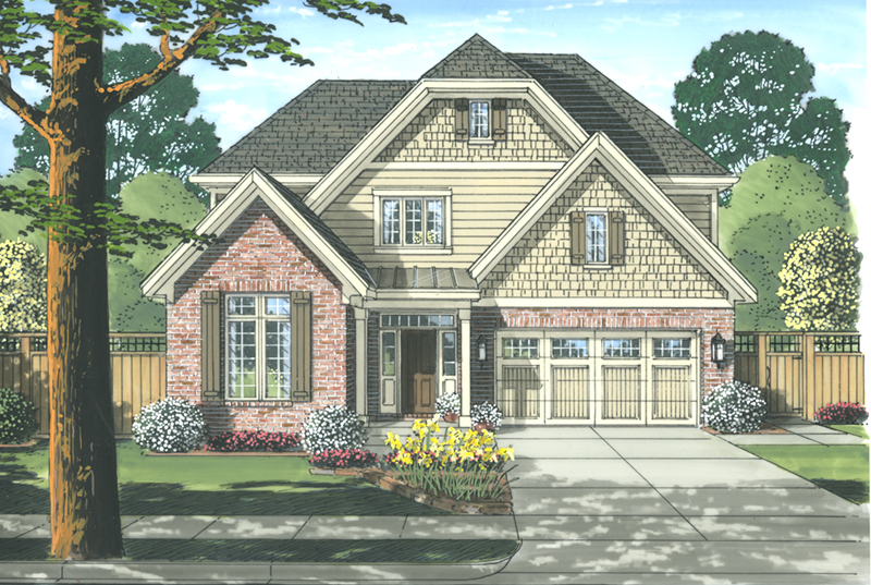 Traditional House Plan Front of Home - 065D-0353 | House Plans and More