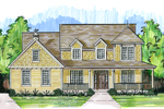 Farmhouse Plan Front Image - 065D-0354 | House Plans and More