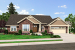 Contemporary House Plan Front of Home - 065D-0355 | House Plans and More