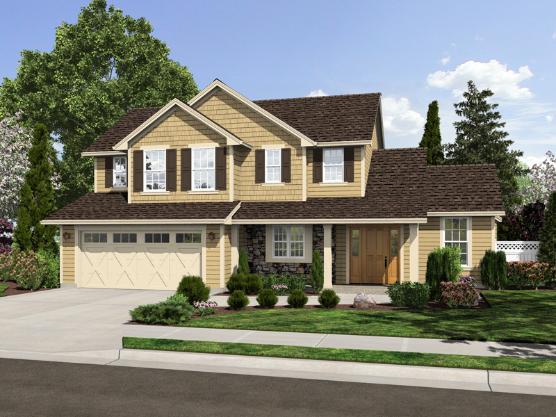 Traditional House Plan Front of Home - 065D-0356 | House Plans and More