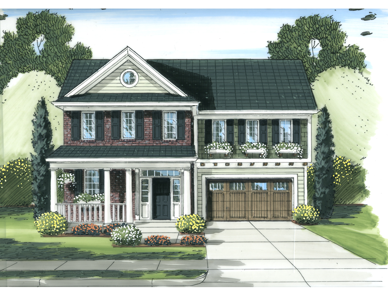 Traditional House Plan Front Image - 065D-0357 | House Plans and More