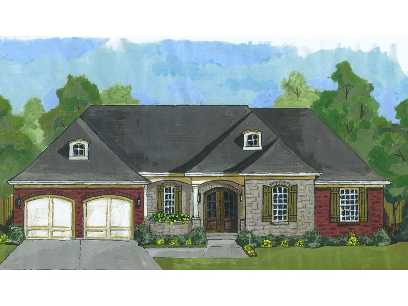 Ranch House Plan Front Image - 065D-0359 | House Plans and More