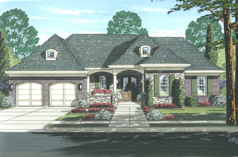 Ranch House Plan Front of Home - 065D-0359 | House Plans and More