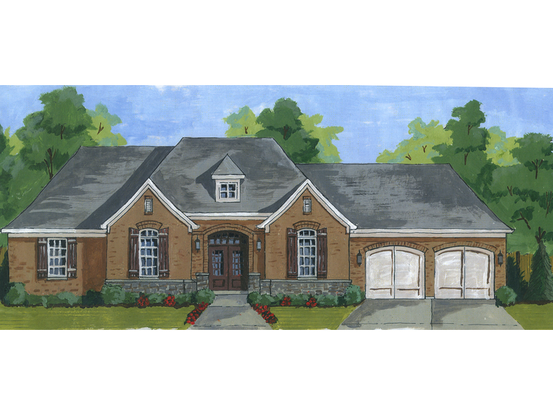 Ranch House Plan Front of Home - 065D-0360 | House Plans and More