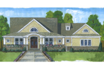 Contemporary House Plan Front of Home - 065D-0362 | House Plans and More