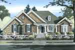 Ranch House Plan Front of Home - 065D-0363 | House Plans and More