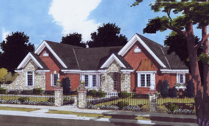 Tudor House Plan Front of Home - 065D-0364   House Plans and More