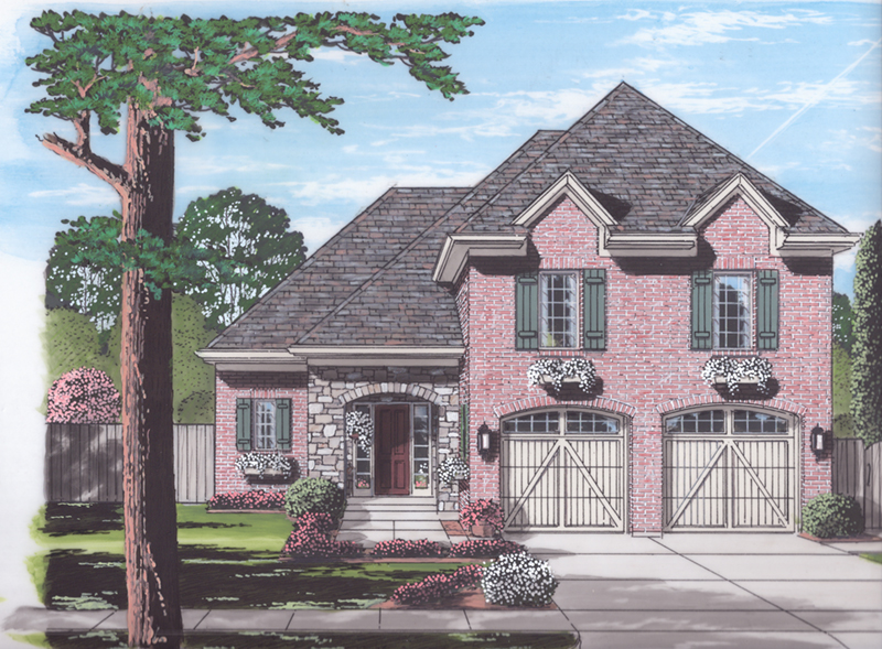 Tudor House Plan Front of Home - 065D-0366 | House Plans and More