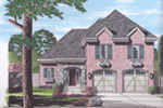 English Tudor House Plan Front of Home - 065D-0366 | House Plans and More