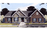 Ranch House Plan Front of Home - 065D-0367 | House Plans and More