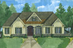 Ranch House Plan Front of Home - 065D-0368 | House Plans and More