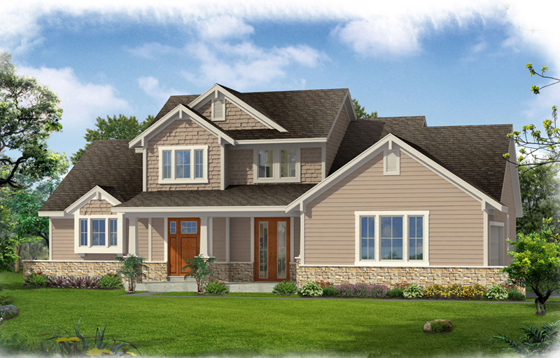 Craftsman House Plan Front of Home - 065D-0369 | House Plans and More