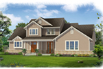 Cabin and Cottage Plan Front of Home - 065D-0369 | House Plans and More