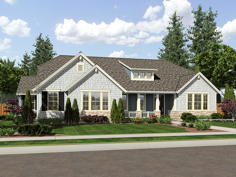 Craftsman House Plan Front of Home - 065D-0372 | House Plans and More