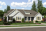 Ranch House Plan Front of Home - 065D-0372 | House Plans and More