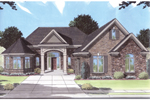 Spacious Traditional Home With Focal Arched Entry