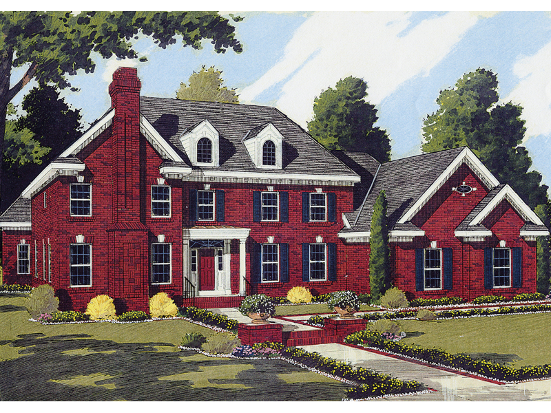 Traditional House Plan Front of Home - 065S-0013 | House Plans and More