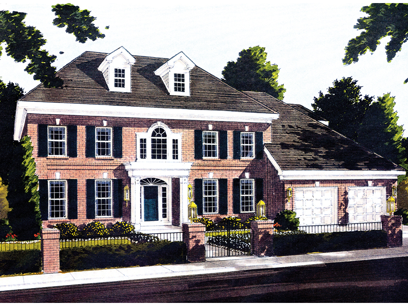 Grand Georgian Colonial Style Home