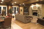 English Tudor House Plan Family Room Photo 01 - 065S-0030 | House Plans and More