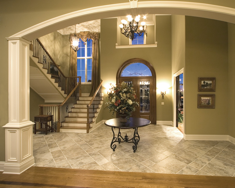 House Plans Foyer Entrance : Plantation grove luxury home plan s house plans