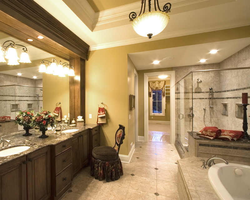 European House Plan Master Bathroom Photo 01 - 065S-0030 | House Plans and More