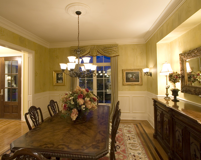 Early American House Plan Dining Room Photo 01 - 065S-0031 | House Plans and More