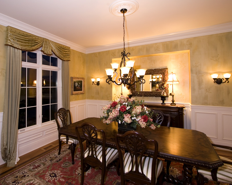Early American House Plan Dining Room Photo 02 065S-0031