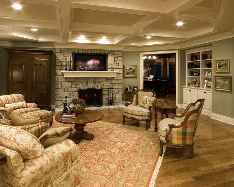Traditional House Plan Great Room Photo 02 065S-0031